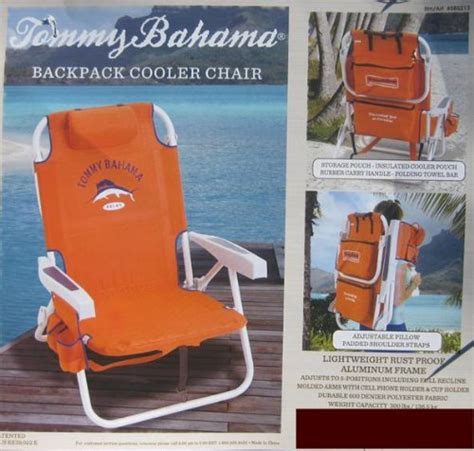 Bahama Backpack Chair Orange by Coleman Cooler Bahama Backpack Cooler Chair With