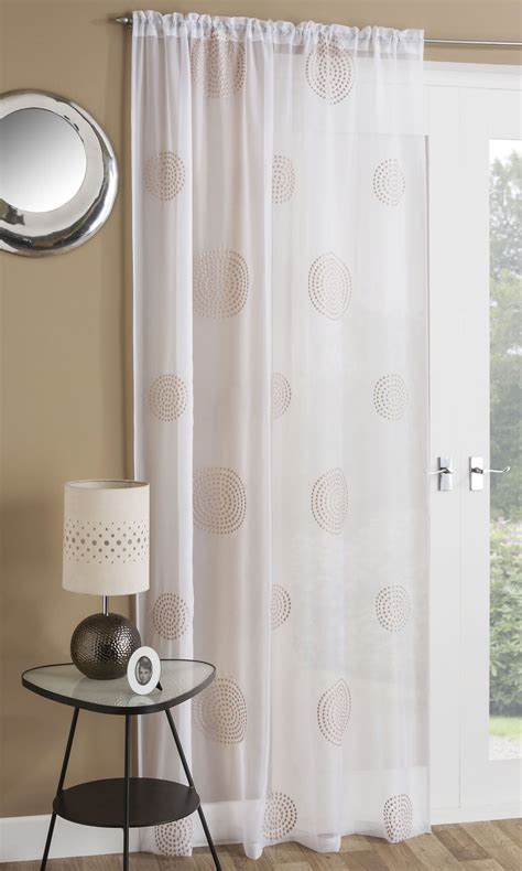 embroidered slot top sheer voile rod pocket window
