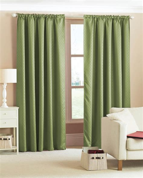 woven blackout curtains green free uk delivery