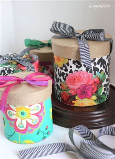 gift wrap inspiration floral paper wrapped boxes