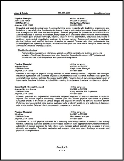 18450 physical therapist resume physical therapist resume physical therapist