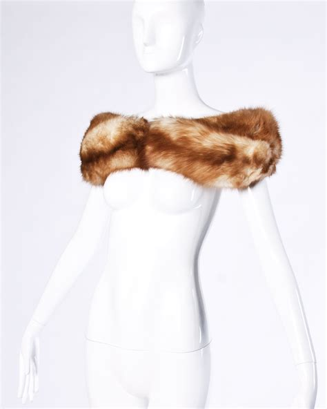 foto de Vintage Stone Marten (Sable) Fur Shoulder Wrap or Stole at