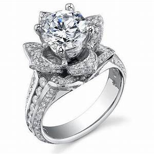 137 ctw original small blooming beauty flower ring With flower wedding rings diamond