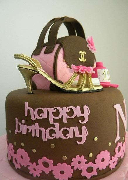 handbag  shoe theme brown birthday cakejpg  comments
