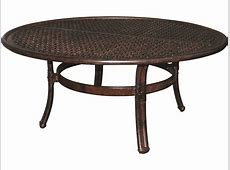 Castelle Meridian Cast Aluminum 42 Round Coffee Table
