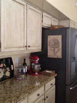 Slate, Refrigerators and Distressed cabinets on Pinterest