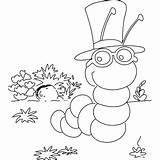 Coloring Inchworm Smart Printable Pages Freeprintablecoloringpages Insects Getcolorings Map sketch template