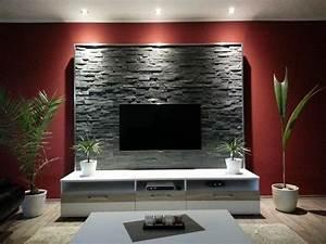 die besten 25 steinwand wohnzimmer ideen auf pinterest With balkon teppich mit stein tapete wohnzimmer grau