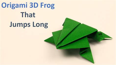 origami frog jumping tutorial easy steps youtube