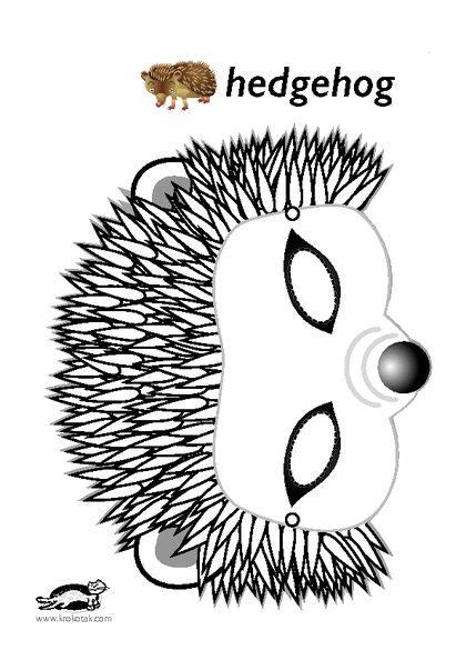 hedgehog mask igel masken kinder masken vorlage und