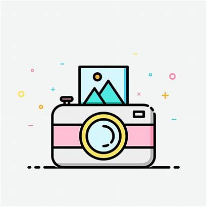 Colorful Camera Clipart Outline Banner Social Summer