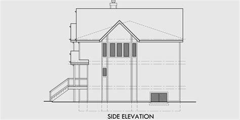 Victorian Townhouse Plans, Duplex House Plans, D 403