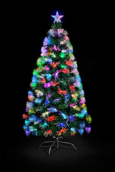 argos fiber optic christmas tree 5ft 1 5m 5ft indoor fibre optic tree gift shop