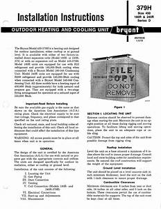 Bryant Outdoor Heating And Cooling Unit 379h Installation