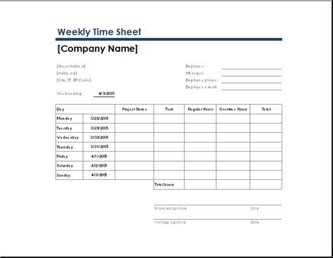 ms excel daily time sheet template formal word templates