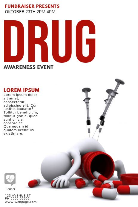 copy  drug awareness flyer template postermywall