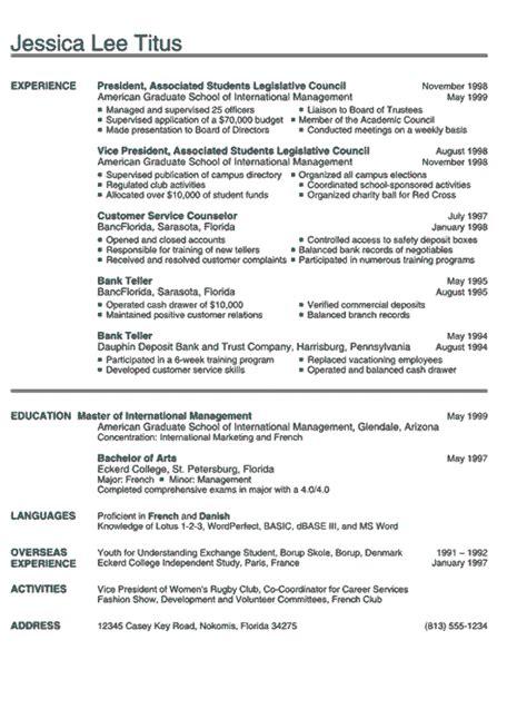 resume for college freshmen templates resume exles for college getessay biz