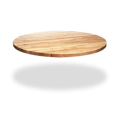 round butcher block table top circular dining table top