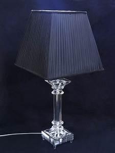 Tischleuchte Mit Schirm : tischleuchte tischlampe leuchte kristallst nder trapezf rmigen schirm 2969 ebay ~ Indierocktalk.com Haus und Dekorationen