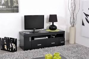 Meuble Tv Extensible : meuble tv bois et blanc pas cher ~ Teatrodelosmanantiales.com Idées de Décoration