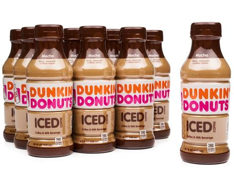 Dunkin donuts is one of the largest coffee and baked goods companies in the world. Dunkin' Donuts Iced Coffee 12 x 13.7 oz. - Mocha | Boxed