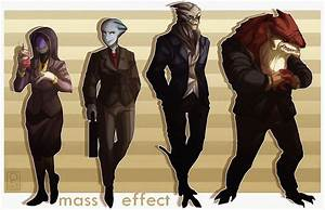 Space Suits, AKA the Mass Effect mobster squad. : masseffect