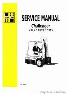 Hyster Challenger He50 Ue30 Ye40 Forklift Gas Diesel