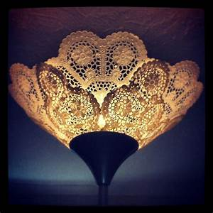 17 best images about doily lamp on pinterest lace lamp With doily paper floor lamp