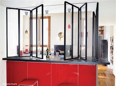 cloison verre cuisine cloisons 7 bonnes idées déco le journal de la maison