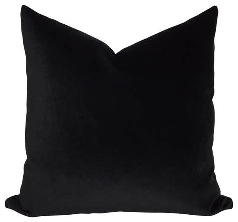 Black Throw Pillows by Jb Martin Solid Black Velvet Throw Pillow Transitional