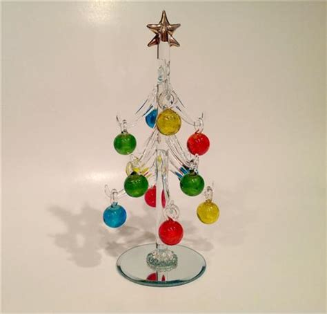 colorful glass christmas tree for the tabletop dwyer