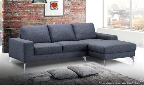 canape design en tissu gris fonc canap angle design et tendance