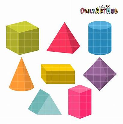Shapes 3d Clip Everyday Objects Hub Daily