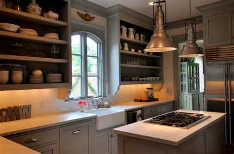 kitchen cabinets  open shelves   art  display