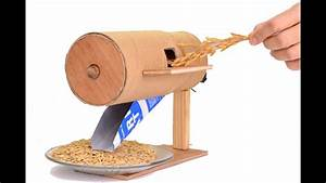 How To Make A Rice Thresher Model  You Can Make It At Home