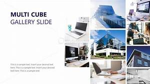 Multiple Cubes Collage Collection Ppt