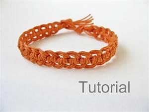 Quick Macrame Bracelet Photo Tutorial Pattern Pdf Orange