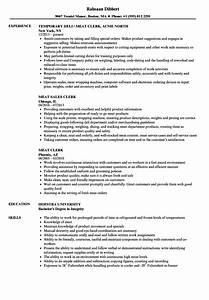 Cashier Job Description Sample Meat Clerk Resume Samples Velvet Jobs