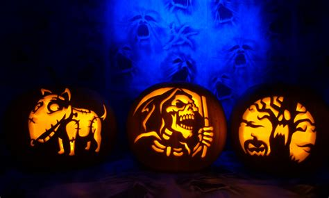 Zombie Pumpkin Stencil by Pumpkin Carving Patterns And Stencils Zombie Pumpkins