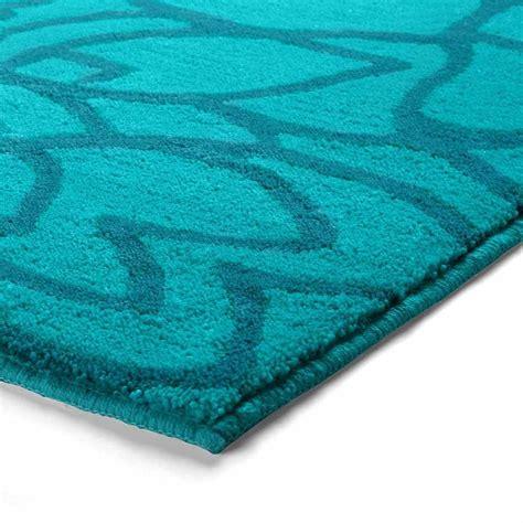 tapis contemporain haut de gamme tapis de salle de bain haut de gamme bleu