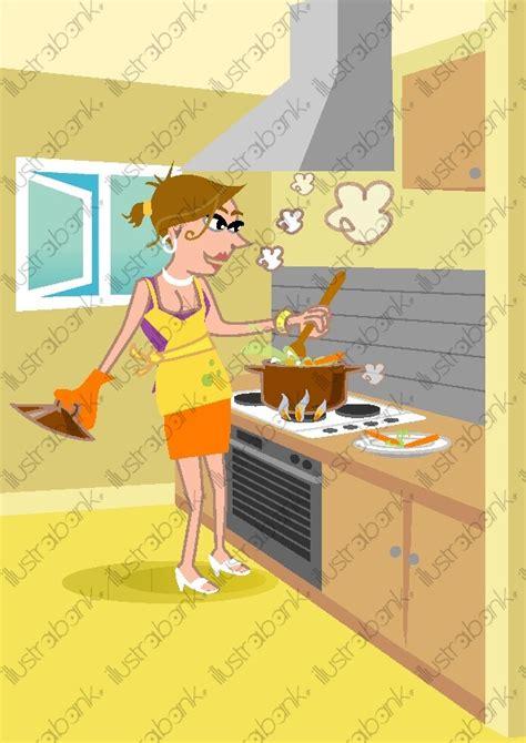 femme qui cuisine femme qui cuisine illustration libre de droit sur illustrabank com