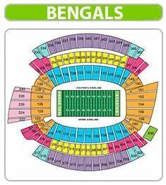 Cincinnati Bengals Seating Chart Paul Brown Stadium