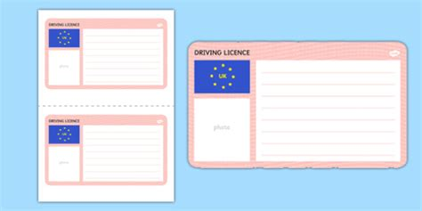 blank driving license template driving cars template