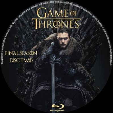 game  thrones season  disc  dvd covers labels
