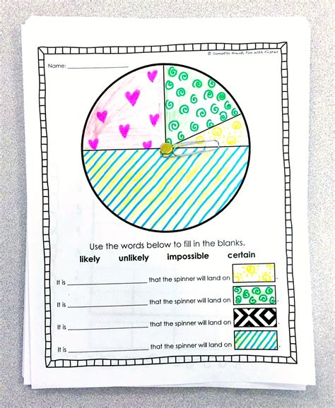 Fun With Firsties Our Probability Unit Worksheets, Activities, Lessons, And Assessment