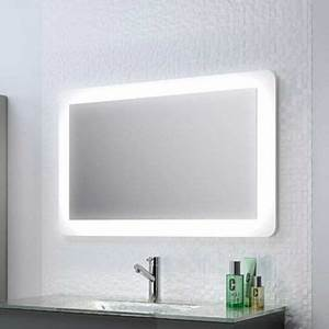 miroir lumineux pour salle de bain systeme d39eclairage With miroir salle de bain 100 x 60