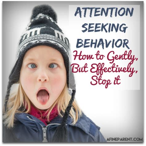 attention seeking behavior how to gently but effectively 253 | Attention Seeking Behavior Main Poster 86378508 M