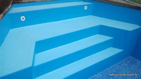 pool treppe nachrüsten r 246 mertreppe pooltreppe im schwimmbecken pool selber bauen de