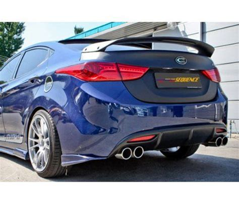 amazoncom sequence rear trunk wing lip spoiler unpainted  pc set    hyundai