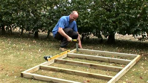 build  wooden base   shed youtube